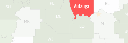 Autauga County Map