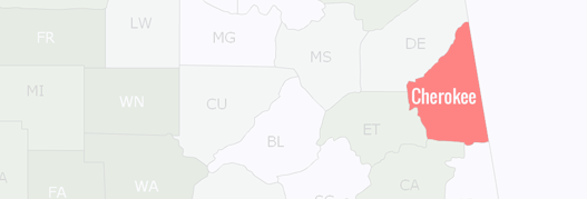 Cherokee County Map