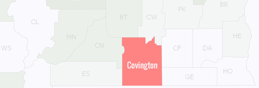Covington County Map