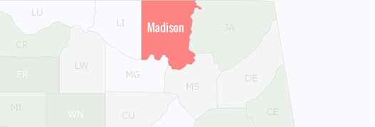 Madison County Map